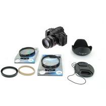 Kit Filtros Canon Powershot Sx30 Uv Cpl Polarizador Parasol