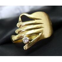 Anel Lindo Em Ouro 18k ! Com Diamante !!