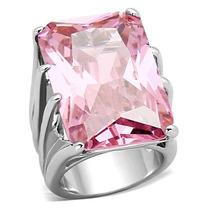 Anel Solitário Rosa Turmalina Em Prata Pedra Natural Luxo