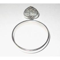 William2006c-anel Com Pingente Em Ouro Branco Com Diamantes