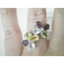 Off-ametista,peridoto,citrino,topázio,ouro 14k-anel Prata925