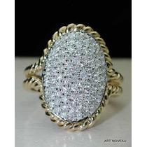 Designer Anel De Diamantes Em Ouro 18k Maciço