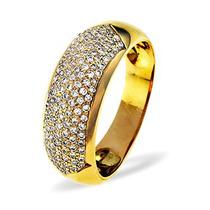Anel Pavê Com 1 Quilate De Diamantes