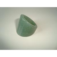 Anel De Pedra Natural Quartzo Verde Polido Aro 20 - 03