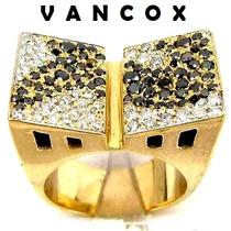 Patslu- Vancox Imenso Anel Pavê Diamantes Ouro18k 750!!!