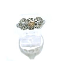 Anel Solitário Com 7 Diamantes Em Ouro Branco J9415