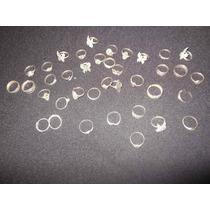 Anéis De Prata Antiga Com Strass - Imperdível Para Revenda