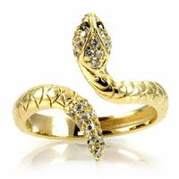 Anel Serpente Em Ouro Amarelo 18k!mais Brilhantes!