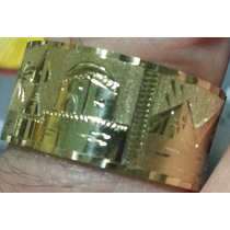 Leão Jóias Aliança Anel De Ouro Escrava 18k Largura 10mm