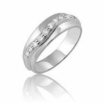 Anel Luciana Ouro Branco 18k Mais Diamantes De 1,5 Pontos!!