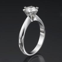 Solitário Top Em Ouro Branco Com Diamante De 50 Pontos.