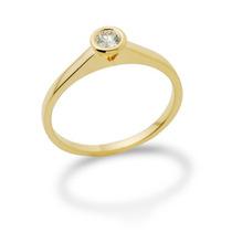 2010anel Solitário C/ Diamante De 5 Pt Em Ouro 18 Quilate