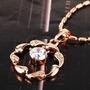 Pingente Ouro Rose 18k Com Zircônias