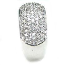 Anel Em Ouro Branco 18k Com Diamantes Ótimo Preço Aproveite