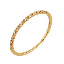 Anel Meia Aliança Lefine Ouro 18k E Diamantes Frete Grátis