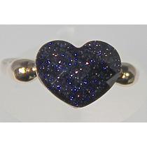 Rsp J489 Anel B. Ouro Coração Pedra Estrela Frete Grátis
