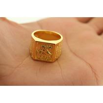 Anel Sao Jorge Banhado Com 2 Camadas De Ouro 18k Barato
