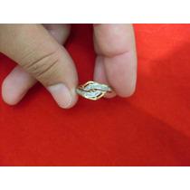 Anel Em Ouro 18k Laço Pedras Brilhantes Ref 386