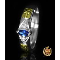 Anel De Formatura Em Prata Com Emblemas Em Ouro Af025