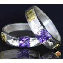 Anel De Formatura Em Prata Com Emblemas Em Ouro Af09