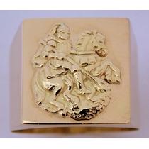 Anel De São Jorge Em Ouro 18 Kl 750 .