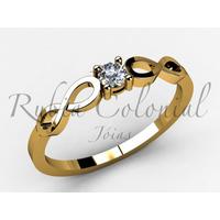 Anel Solitário - Infinito - Diamante 10 Pontos.. Noivado