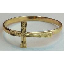 Swjoias Anel Ouro 18k 750 Cruz Crucifixo Jesus 1,4grm