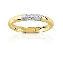 Anel Com Diamantes Ouro Amarelo 18k/750 Frete Grátis