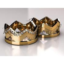 Aliança De Casamento Diferente, Coroas De Diamante.