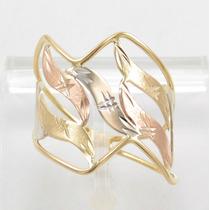 Esfinge Jóias - Anel Design Três Cores Aro16 Ouro 18k 750.