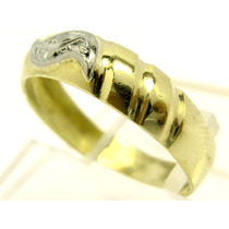 A9517-06606 Anel Ouro 18k-750 Maciço Ouro Branco Joianete
