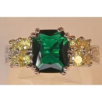 Rsp J1946 Lindo Anel Quartzo Verde Esmeralda... Frete Grátis