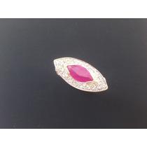 Anel De Formatura Luxo Diamantes E Pedra Natural. Exclusivo.