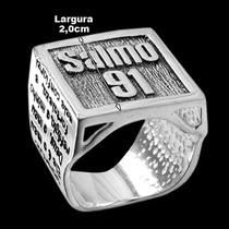 Anel De Prata 925 Salmo 91 Grande + Frete Grátis