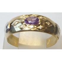 Anel Formatura Em Ouro 18k 750 Com 8 Brilhante( Diamantes)