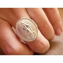 Anel Medalha Em Prata Nossa Senhora Das Graças - Mod. Grande