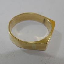 Anel De Ouro Maciço 18k 750 Novo Com Produção No Seu Aro