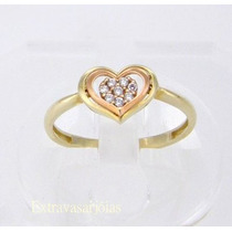 Oferta Anel Chuveiro Coração Ouro18k/diamantes,frete Grátis!