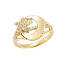 Super Promoção Anel Ouro Amarelo 18k/diamantes,frete Grátis!
