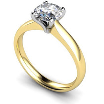 Anel Solitario De Ouro 18k Diamante 0,31 Ct