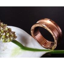 Anel Aliança Masculino E Feminino Bvlgari Banhado Ouro 18k