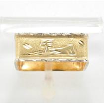 Esfinge Jóias - Anel Egípcio Escravo Aro16 Em Ouro 18k 750.
