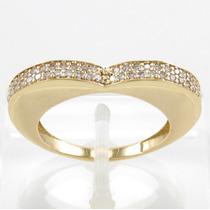 Esfinge Jóias - Anel Pavê De Diamantes Aro15,5 Ouro 18k 750.