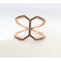 Anel Encontro Ouro 18k Mais 50 Pontos Em Diamantes