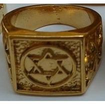 Anel Estrela De David Selo De Salomão Banho Ouro Certificado