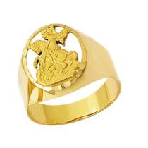 Leão Jóias Anel De Ouro São Jorge 18k 6,3gr Com Certificado