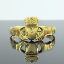 Anel Claddagh Em Ouro 18k - Terra Da Prata