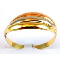 Anel Estilo Cartier Em Ouro Amarelo, Branco E Rosé 18 Kt