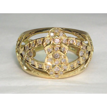 Pocao2005-anel Ouro 18k 750 Lindos Diamantes Frete Gratis
