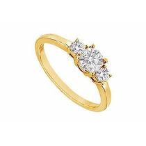 Anel Em Ouro 18k Com Diamantes 25 Pontos - Cwb Joias